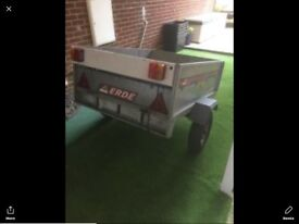 Trailer 3 X 4ft Erde 121 metal tipping/drop tailgate