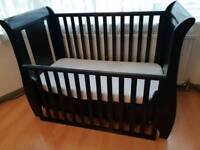 Tutti Bambini Katie Espresso Sleigh Cot Bed. Great condition. Comes with instructions