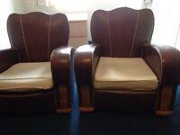 Pair Vintage armchairs