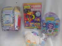 Moshi Monsters Bundle WILL POST Storage Tub, Moshling, Music Stars Book, Leo Soft toy + FREE Bag +CD