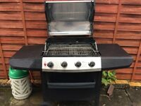 4 burner pro pain barbecue
