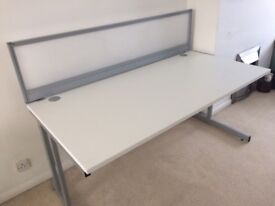 White desks 1600mm X 800mm free delivery-15 in stock