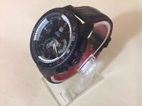 New Swiss Tag Heuer Grand Carrera See through back Automatic Watch, LEATHER STRAP