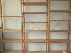 Wooden shelving system