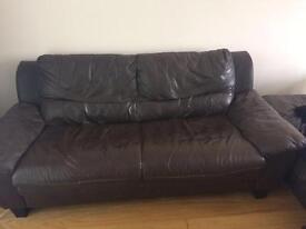 2 faux leather sofas - FREE