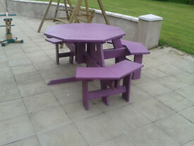 Picnic Table Octonganal shape made for disabled wheelchair access