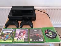 XBOX One 500GB with *TWO* Controllers, KINECT & 4 Games (Forza 5, Call of Duty: AW, Minecraft)...