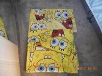 Spongebob single duvet cover and pillowcase