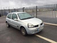 2003 Renault Clio 1,2 litre 3dr 8 months mot