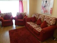 3 PIECE SUITES SOFA PICTURE CUSHIONS NEXT RUG