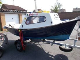13ft Maxcraft Fishing Boat, Engine and Trailer