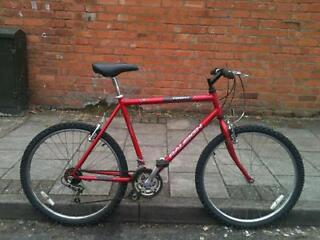 Raleigh firefly large frame mountain bike suitable for taller riders comes with guarantee