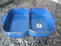 Denby Imperial Blue Divided Dish /Vegetable Serving Dish *BRAND NEW WITH LABELS*