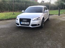 AUDI A3 S LINE TDI 2012 BLACK EDITION UPGRADES FULL HISTORY 8p facelift