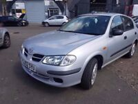 2002 NISSAN ALMERA 1.5..5 DOOR..QUICK SALE