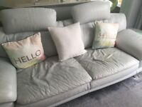 White leather sofa free
