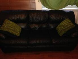 2 and 3 seater real leather sofa for sale - great condition