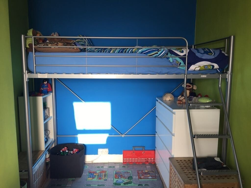 High Sleeper Single Bed Frame Only Childrens High Bunk Bed Metal