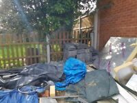 Free 4ft Fences Concrete posts and Gravel Board - Ready to collect IG3