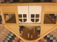 Wooden dolls house 🏠 with furniture and dolls