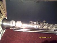 """A SOPRANO SAX by """" THEBOUVILLE LLAMY """" PARIS ,A COLLECTORS HORN ? COMPLETE / NEEDS HELP?"""