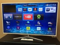 "SAMSUNG 46"" FHD 1080p 3D Smart LED TV - Wi-Fi - Apps - 4 HDMI - UltraSlim White - BARGAIN RRP £1200"