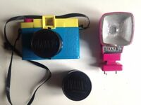 Lomography Diana F+ with Flash and Fisheye lens