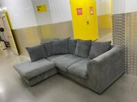 Grey L shape sofa, Free delivery