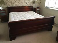High quality super king size sleigh bed with M & S luxury mattress