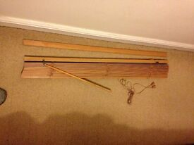 Wooden slatted window blind