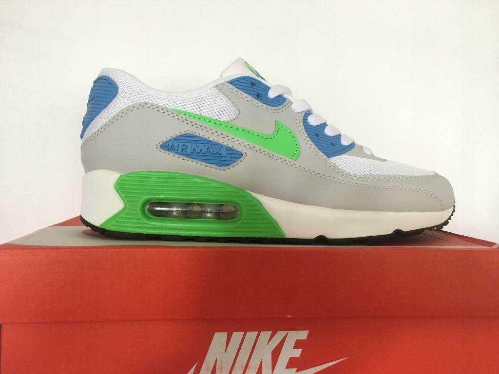finest selection dc389 56968 Brand New with Box Mens Nike Air Max 90 Lt.Grey Sky Blue Green size 6-11  Trainers Shoes