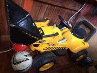 Kids child children Electric ride on JCB digger - good condition with charger - not bike