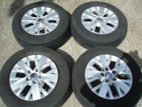 "Set Genuine wheels 5x120 VW T5 16"" Tyres Hankook 215/65/16C tread 6-7mm Delivery available"