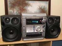 Samsung Hifi, 3 disk CD player, radio