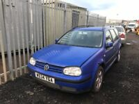 Volkswagen Golf 1.9 tdi estate diesel breaking parts available