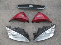 FORD MONDEO MK3 HEADLIGHTS BRAKE LIGHTS REAR GRILLE ENGINE COVER SPARES REPAIR PARTS BREAKING TDCI