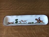 Crown Staffordshire Tray Hunting Scene