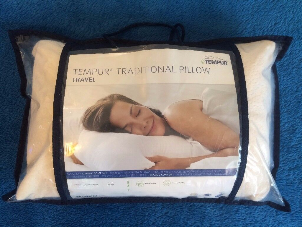 Tempur Tavel Traditional Pillow memory foam soft-medium small size famous brand