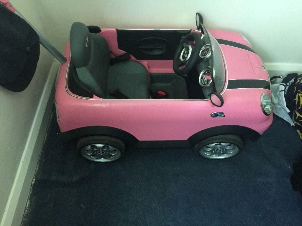 Pink Mini Cooper Push Along Car In Bramley South
