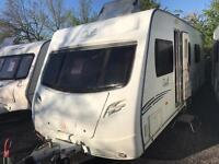 Lunar delta rs twin axle with fixed bed 2010 touring caravan