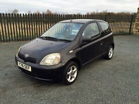 2001 Y TOYOTA YARIS 1.0 VVTi 3 Door - LOW MILEAGE - AUGUST 2017 M.O.T!