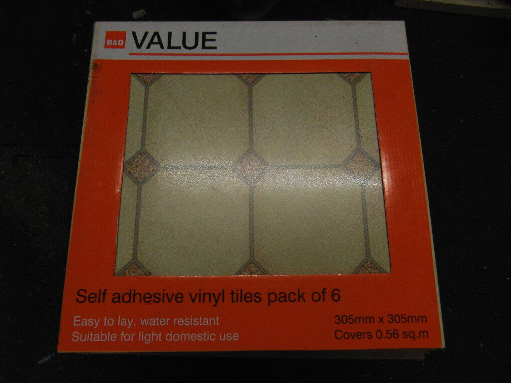 144 Bq Value Self Adhesive Water Resistant Biege Vinyl Floor Tiles