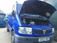 vauxhall movano mwb 3300 dti spares or repairs 2002