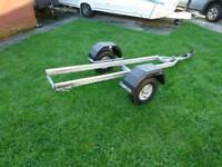Jet ski trailer. Galvanised, 6 foot soft bed new hubs and tyres