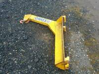 Grays forklift jib with hook tractor telehandler etc