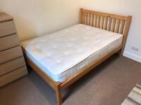 John Lewis double bed & mattress