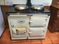 AGA - Two oven, cream, oil-fired Aga in good working order