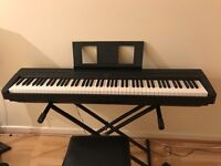 Yamaha P45 digital piano + stand and carrier bag