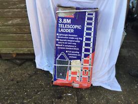NEW Forgefix Telescopic Ladder 3.8m Lightweight Aluminium Construction Weight approx 9kg