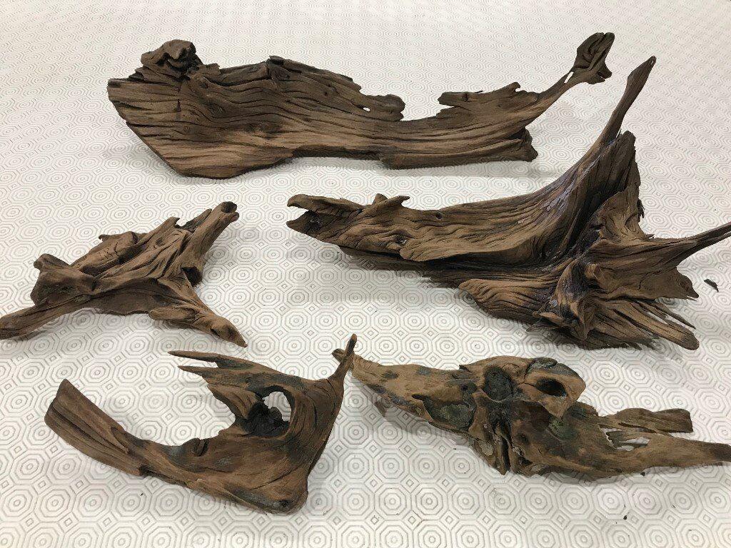 Aquarium Bogwood. 5 Large pieces. Used.